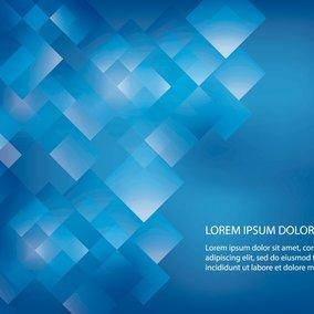 Futuristic Blue Square Background