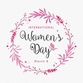 Women's Day Design Card Template