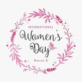 Women's Day Design Card Template