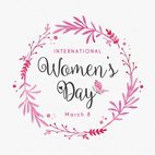 Small 1x womens day design card template