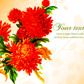 Beautiful Floral Illustration Template
