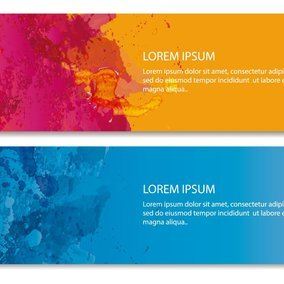 Abstract Paint Splatter Web Banners