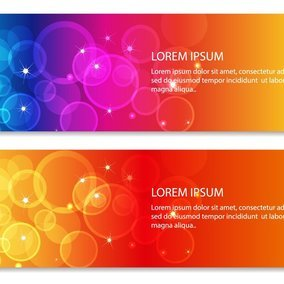 Abstract Bubble Banners