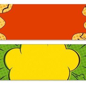 Comic Style Web Banners