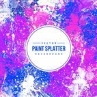 Colorful Paint Splatter Background
