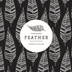 Small 1x hand drawn ethnic feather seamless pattern