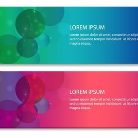 Abstract Circle Bokeh Banners