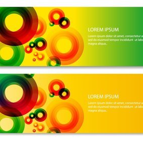 Abstract Circles Banner Set