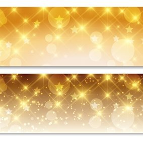 Abstract Bokeh and Sparkle Banner Set
