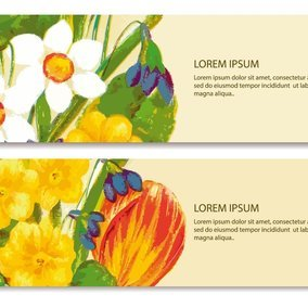 Painted Floral Banner Pack