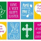 Cute Mini Easter Cards Collection
