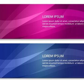 Abstract Line Banners