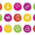 Colorful Splash Style Weather Icons