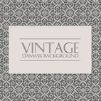 Grey and Cream Vintage Damask Background