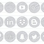 Scribble Social Media Icon Set