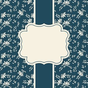Navy Floral Card Template