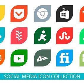 Colorful Social Media Icon I