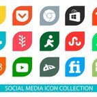 Colorful Social Media Icon I