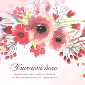 Watercolor Flower Illustration Template