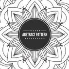 Abstract Hand Drawn Pattern Background