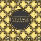 Vintage Gold Damask Background