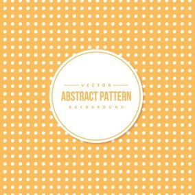 Cute Yellow Abstract Polka Dots Background