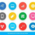 Small 1x dd technology icon collection 56434 preview