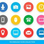 Technology Related Icon Collection