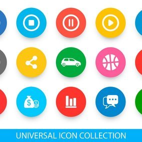 Bright Universal Icon Collection