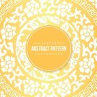 Yellow Chinese Pattern Background