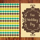 Beautiful Retro Wedding Card Illustration