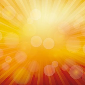 Warm Bokeh Sunburst Vector