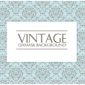 Decorative Vintage Damask Background