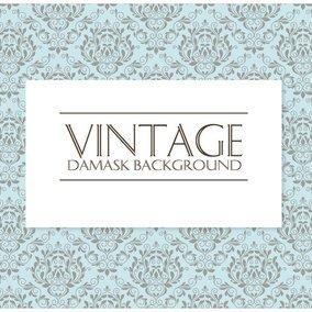 Decorative Vintage Damask Background