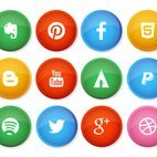 Small 1x dd social media button icon collection 55540 preview