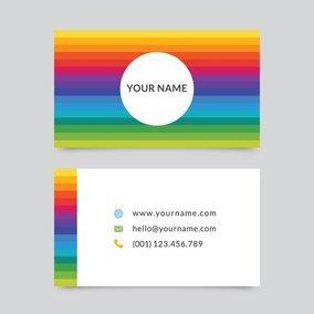 Rainbow business card template 10828 dryicons rainbow business card template reheart Choice Image