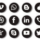 Retro Style Social Media Icon Collection