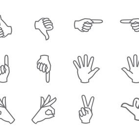 Hand Symbol Icon Collection