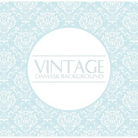 Pale Blue Vintage Damask Background