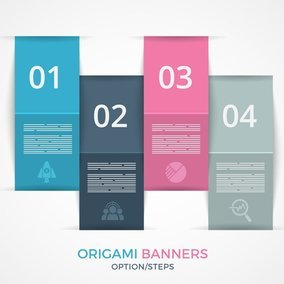 Stepped Origami Banners