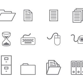 Simple Office Icon Collection
