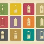 Retro Style Battery Icon Collection