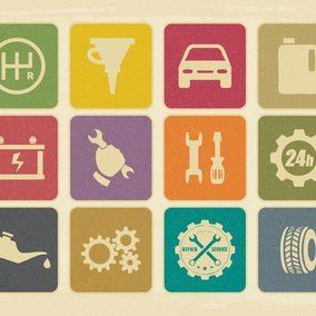 Vintage Mechanic Repair Icon Collection