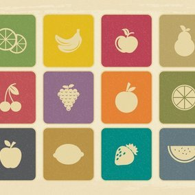 Vintage Fruit Icon Collection