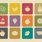 Small 1x dd vintage fruit icon collection 56745 preview