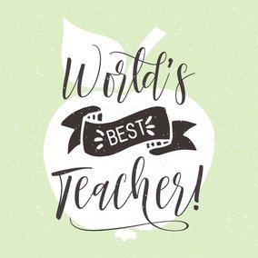 World's Best Teacher Hand Drawn Lettering