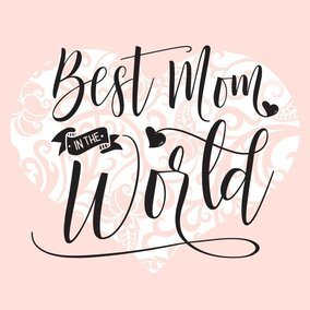 Best Mom In The World Black Hand Drawn Typography