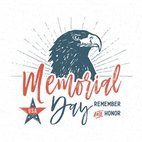 Small 1x memorial day hand drawn typographic vector card
