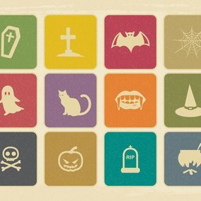 Vintage Halloween Icon Collection