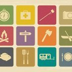 Small 1x dd vintage camping icon collection 12343 preview
